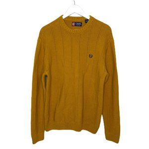 Chaps Cotton Knit Crew Neck Pullover Sweater